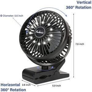 Rechargeable Fan Clip