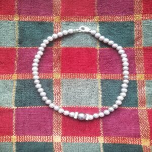 Faux Pearl Beaded Necklace -Handmade at Home Jewelry Necklace no1