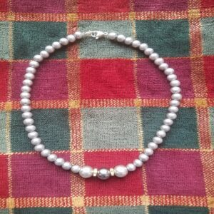 Faux Pearl Beaded Necklace - Handmade at Home Jewelry Necklace #2