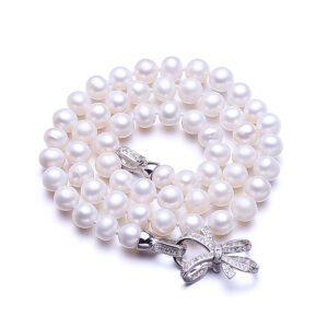 FENASY Women's Freshwater Natural Pearls Choker