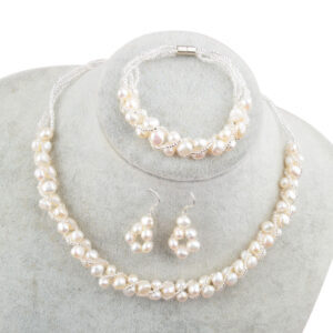Hand-Knitted Freshwater Pearl Necklace